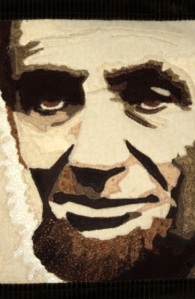 quilted lincoln close up face