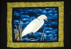 Full egret quilt