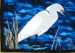 Quilted Egret upclose